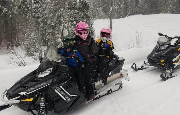 Guided Snowmobile Tours Near Whitefish, MT
