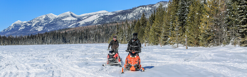 Snowmobile Rental Overview Northwest Montana