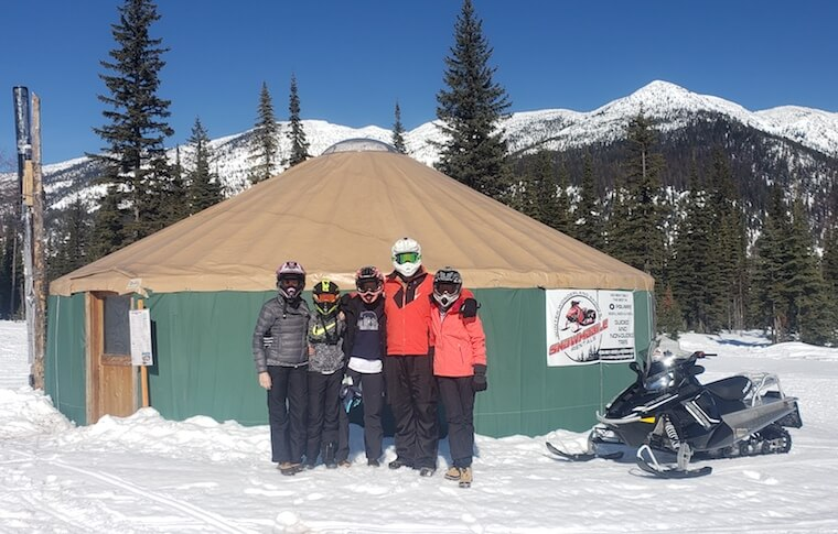 Group in Front of a Yurt Hut