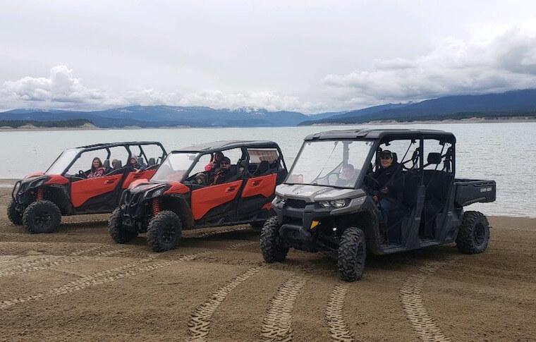 ATV Vehicles on a Beach in Montana